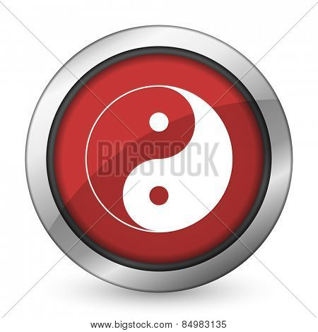 ying yang red icon
