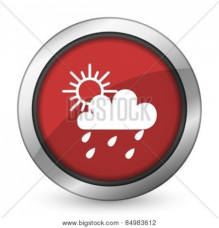 rain red icon waether forecast sign
