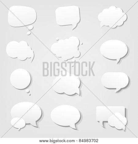Speech Bubble With Gradient Mesh, Vector Illustration