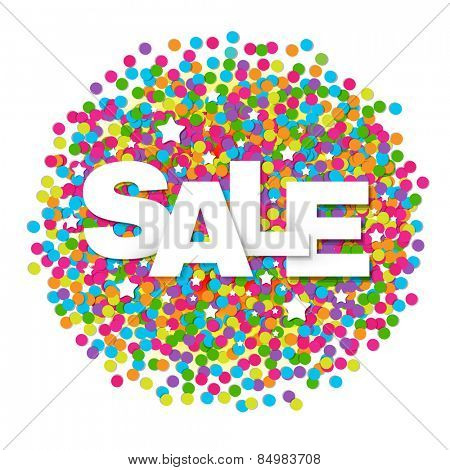 Sale Confetti Ball With Gradient Mesh, Vector Illustration