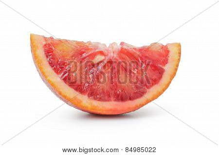 segment of ripe blood red orange isolated
