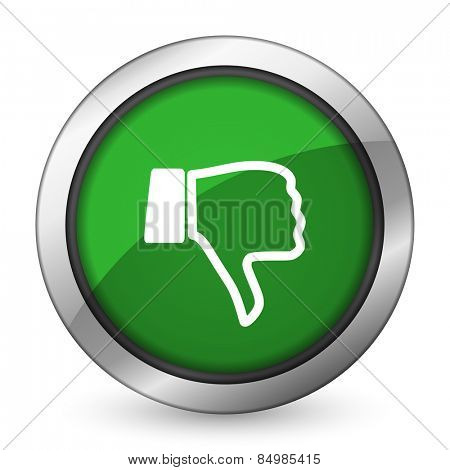 dislike green icon thumb down sign