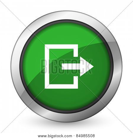 exit green icon