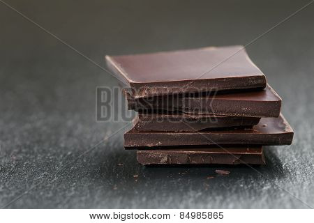 stack of chocolate thin pieces