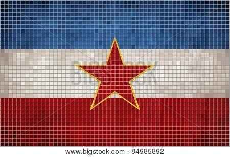 Abstract Mosaic flag of Yugoslavia
