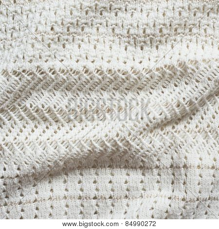 Knitted cloth material