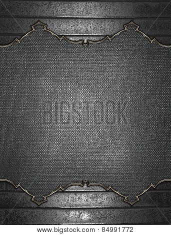Abstract Grunge Iron Texture With Metal Nameplate. Design Template