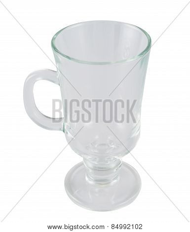 Glass empty tea cup