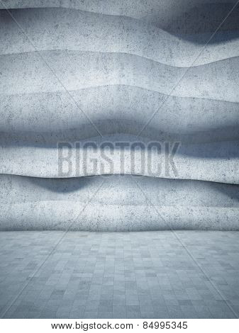 Abstract geometric background of the concrete. 3D render.