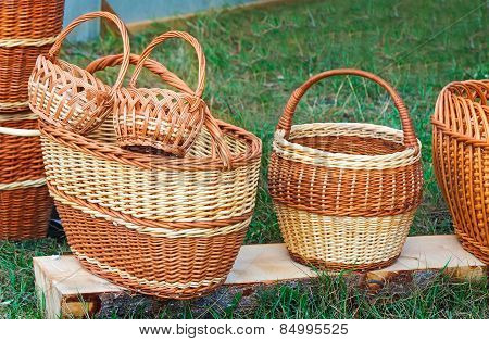 Wicker Baskets For Sale At The Fair.