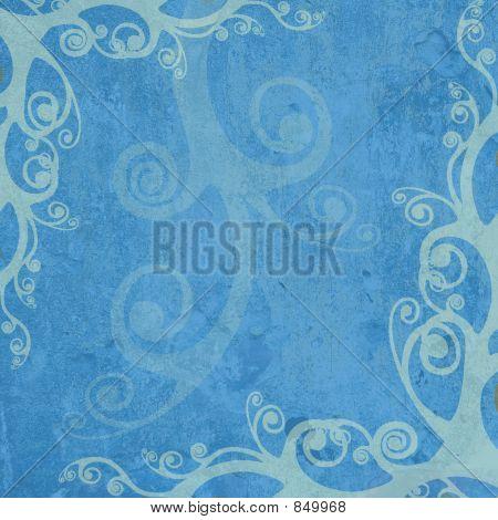 blue artistic frame