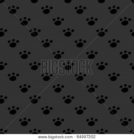 Animal footprint seamless dark pattern