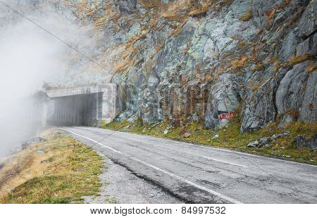 Mountain Road in the Transylvanian Alps, Romania, Europe