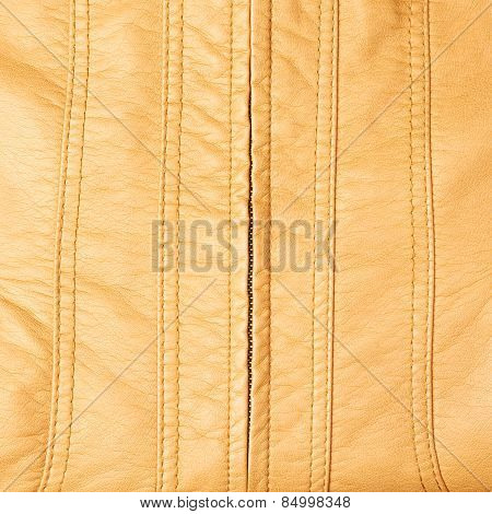 Leather texture with a zipper
