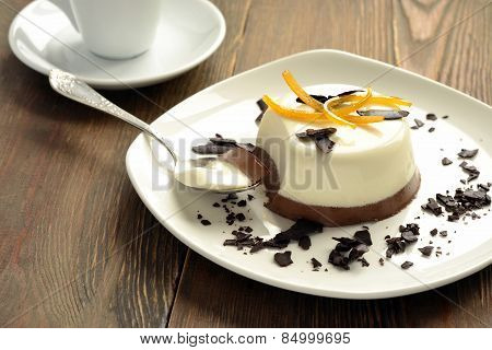 Chocolate creamy Panna Cotta