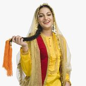 pic of punjabi  - Woman in traditional Punjabi dress - JPG