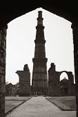picture of qutub minar  - Low angle view of a minaret - JPG