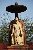 picture of lakshmi  - Statue of lord Vishnu at a temple - JPG