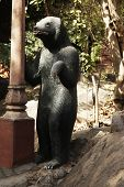 pic of lakshmi  - Statue of a bear at a temple - JPG