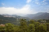 foto of himachal pradesh  - High angle view of mountains - JPG