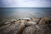 stock photo of kanyakumari  - Rocks on the coast - JPG