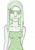 Eye Patch Girl Green