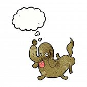 foto of sticking out tongue  - cartoon dog sticking out tongue with thought bubble - JPG
