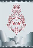 stock photo of durga  - Durga Goddess of Power Vector Art - JPG