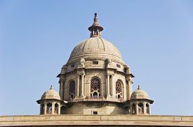 image of rashtrapati  - High section view of a government building - JPG
