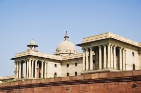 stock photo of rashtrapati  - Low angle view of a government building - JPG