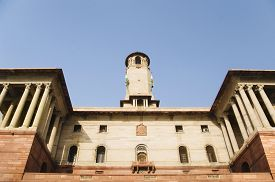 foto of rashtrapati  - Low angle view of a government building - JPG