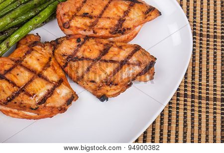 Barbecued Spicy Chicken Breasts