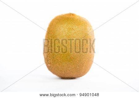 Closed Up Kiwifruit On White