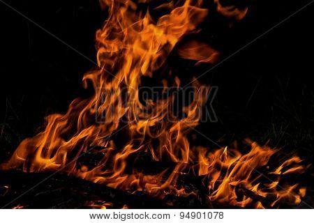 Fire Flame Bonfire Spurts