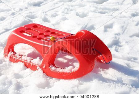 Reb Sled For Playing In The Snow In Winter