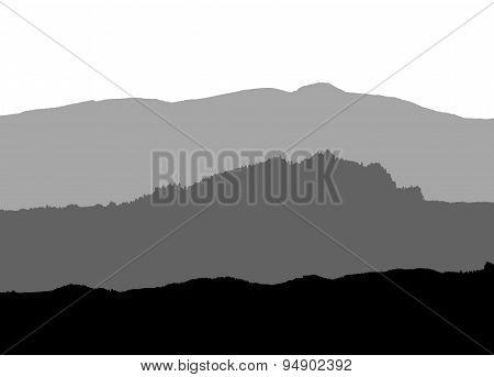 gray landscape