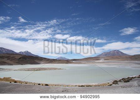 Laguna Honda - Deep Lagoon - in Atacama Desert in Bolivia