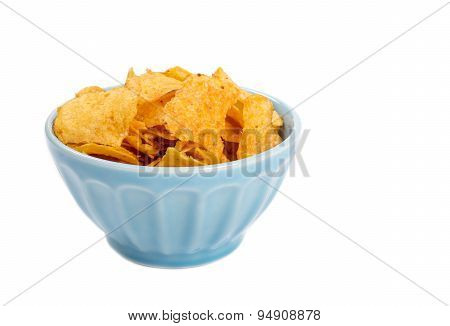 Bowl of Barbecue Potato Chips