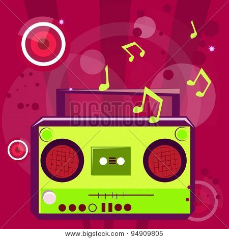 Pop music background