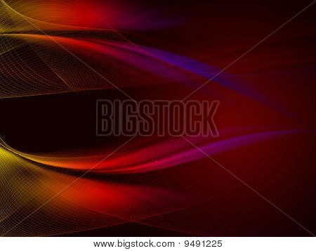 Red Background With Net
