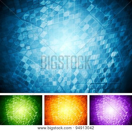 Abstract tech backgrounds. Vector design