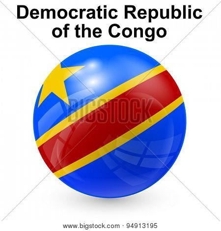 State flag of Democratic Republic of the Congo