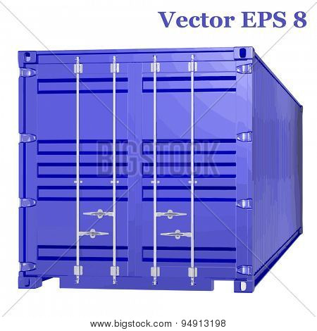 Shipping 40ft container, vector illustration EPS 8.