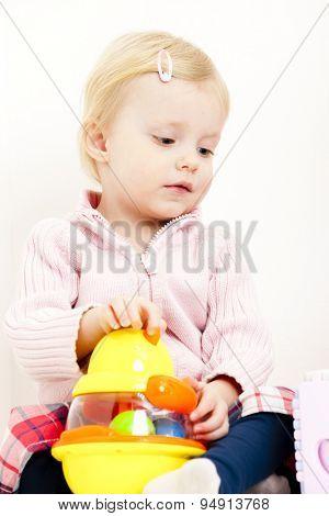 playing toddler girl