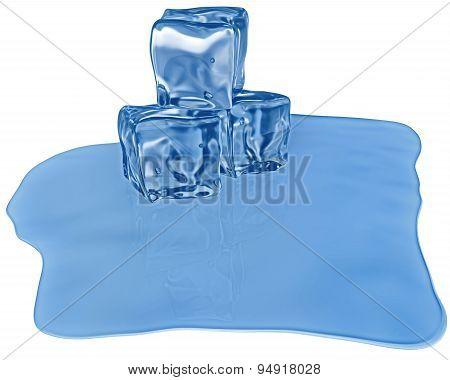 Ice Cubes With Air Bubbles