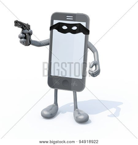 Smartphone Bandit With Mask