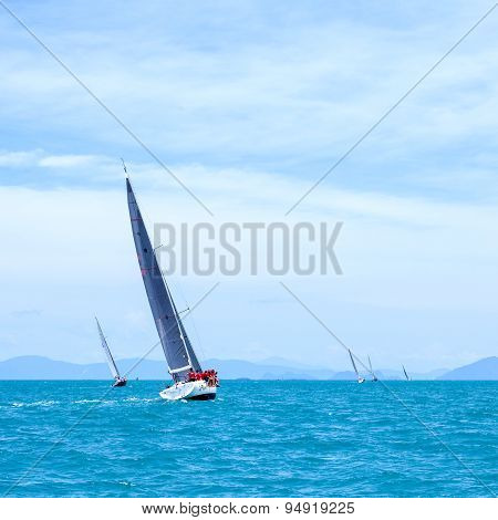 SAMUI REGATTA 2015 THAILAND - MAY 25 : Event at Chaweng beach Koh Samui island Thailand May 25 2015