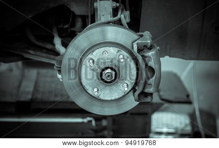 Brake Disk And Detail Of The Whee