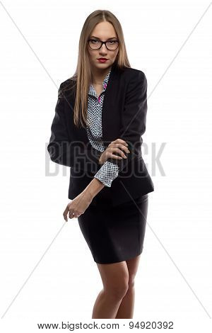 Image of business woman rolling up sleeves
