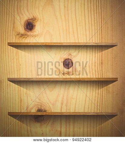 Wooden Book Shelf Background